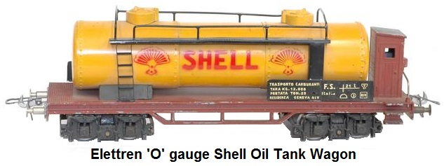 Elettren 'O' gauge Shell Oil Tank wagon