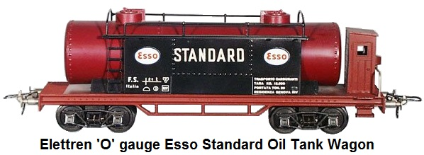 Elettren 'O' gauge E102 ESSO Standard Oil Tank Wagon - die cast and tin litho
