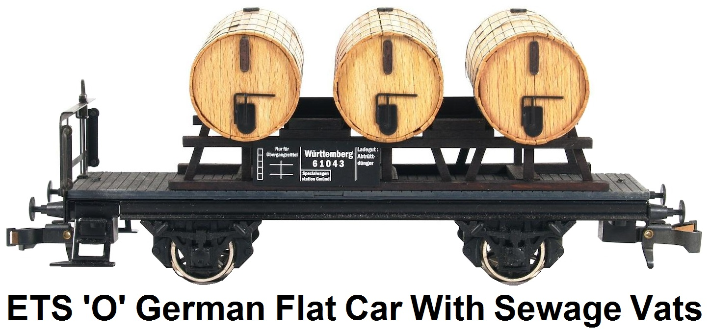 ETS 'O' gauge German Special Car for transporting Sewage