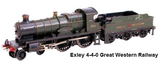 Exley 4-4-0 steam loco and tender