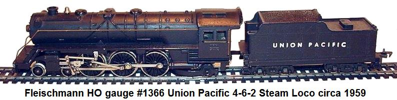 Fleischmann HO #1366 Union Pacific 4-6-2 Steam loco circa 1959
