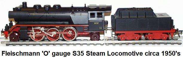Fleischmann 'O' gauge S35 2-6-2 Steam Locomotive circa 1950's