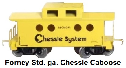 Forney Standard gauge Chessie System caboose