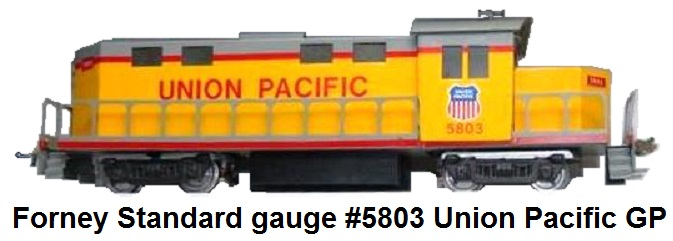 Forney Standard gauge Union Pacific #5803 GP diesel locomotive