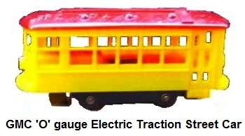General Models Corp 'O' gauge Elec-Traction streetcar