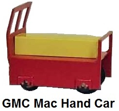 General Models Corp 'O' gauge Mac Hand Car