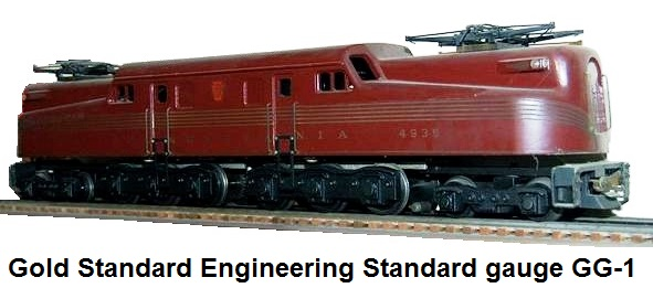 Gold Standard GG-1 in Standard gauge first built in 1978