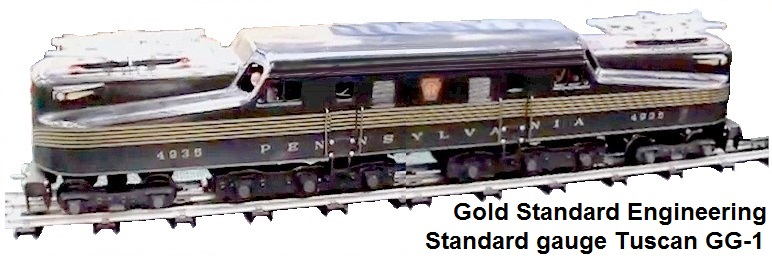 Gold Standard PRR GG-1 in Standard gauge in Tuscan with 5 Gold stripes