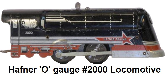 Hafner 'O' gauge #2000 tinplate clockwork locomotive