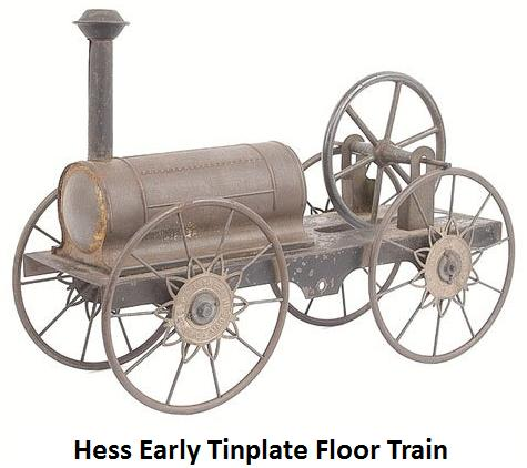 Hess early floor train loco 10 inches long x 3.5 inches wide