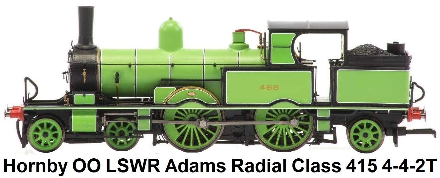 Hornby OO R3335 LSWR Adams Radial Class 415 4-4-2T 488 LSWR Green