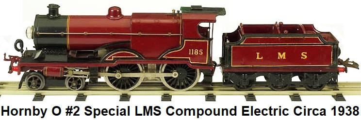 Hornby LMS Compound 4-4-0 electric in 'O' gauge circa 1938