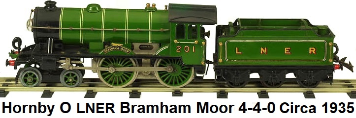 Hornby Bramham Moor 4-4-0 #2 Special 20v electric loco in 'O' gauge made 1935-39