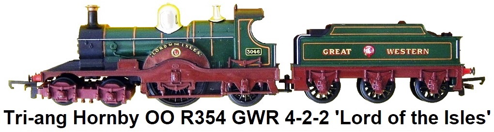 Tri-ang/Hornby OO gauge R.354 G.W.R. 4-2-2 'Lord of the Isles' Locomotive and Tender