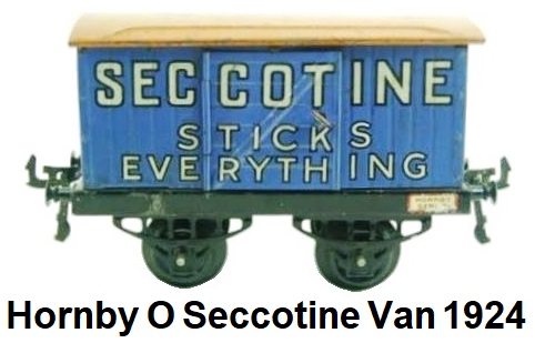 Hornby 'O' gauge POV Seccotine Van Early