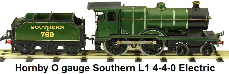 Hornby Southern L1 electric engine in 'O' gauge