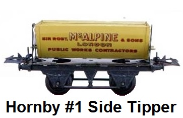Hornby O gauge #1 side Tipping Wagon