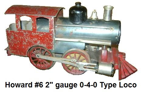 A later model Howard #6 0-4-0 electric Steam profile Switcher in 2 inch gauge