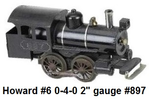 Another variation of the Howard #6 0-4-0 electric Steam profile Switcher in 2 inch gauge