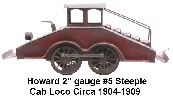 Howard prewar 2 inch gauge #5 Steeple cab mining locomotive, circa 1904-1909