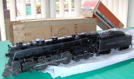 TCA Western 2012 member's raffle is a 1950 Lionel #773 Hudson Loco and tender with original boxes. Raffle tickets are $20 each. Only 100 tickets will be sold