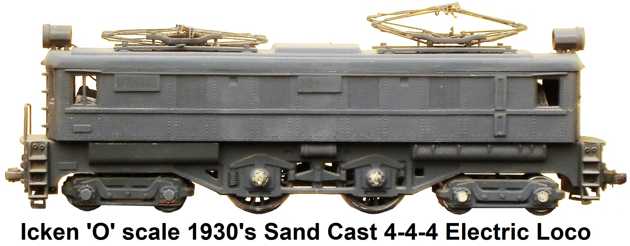 Icken 'O' scale 4-4-4 French Sand Cast Electric loco circa 1930's