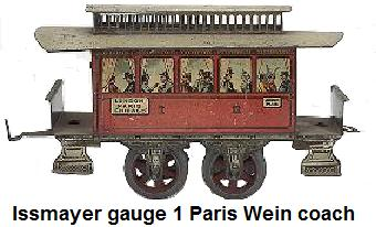 Issmayer gauge I Paris Wien passenger coach
