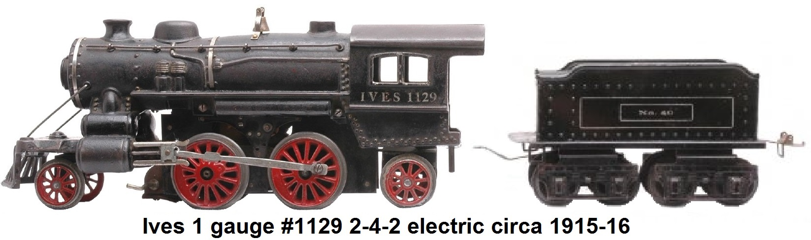 Ives #1129 2-4-2 Steam Outline #1 gauge electric Circa 1915-1916