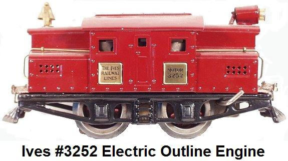 Ives #3252 electric outline engine