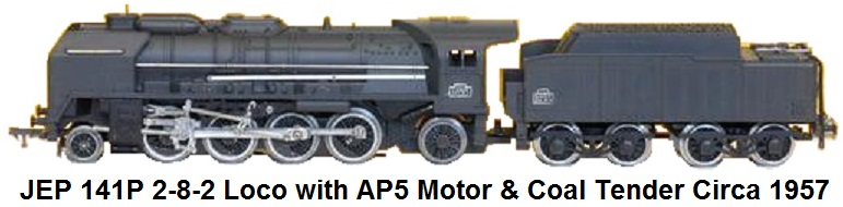 JEP 'O' gauge 141P 2-8-2 Steam Outline Loco with AP5 DC motor made 1957-1964