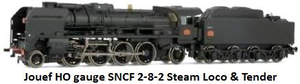 Jouef 34P34 steam locomotive of the SNCF in HO gauge HJ2123