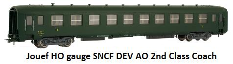 Jouef DEV AO coach of the SNCF 2nd class in HO gauge HJ4051