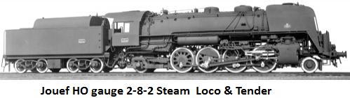 Jouef 141 R 1187 steam locomotive in HO gauge HJ2073