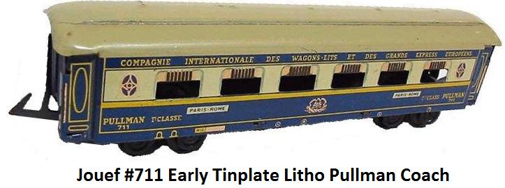 Jouef early tinplate Pullman coach