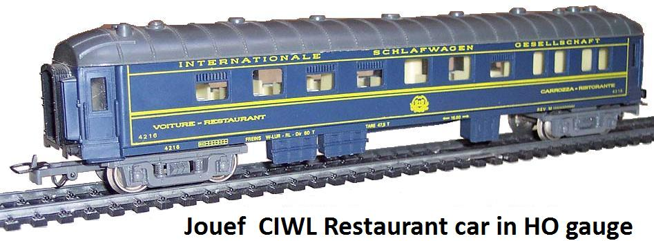 Jouef CIWL restaurant car in HO