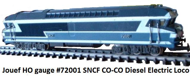 Jouef SNCF co-co diesel electric loco #72001 in HO gauge