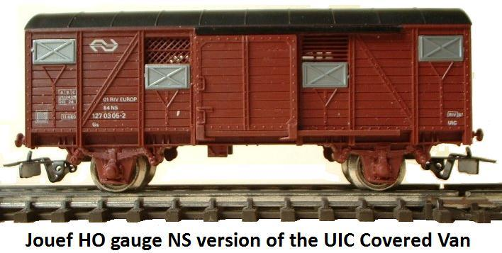 Jouef NS version of the UIC covered van in HO gauge