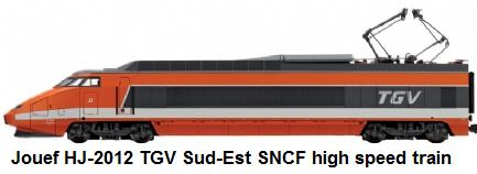 Jouef modern era HJ-2012 High Speed Train TGV Sud-Est SNCF