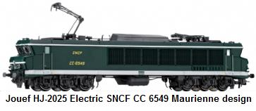 Jouef modern era HJ-2025 Electric locomotive, SNCF series CC 6549 Maurienne design