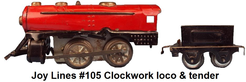 Joy Line #105 Clockwork Locomotive & Tender