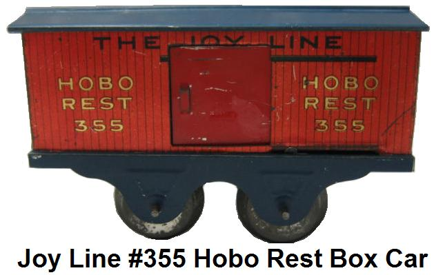 Joy Line #355 Hobo Rest box car