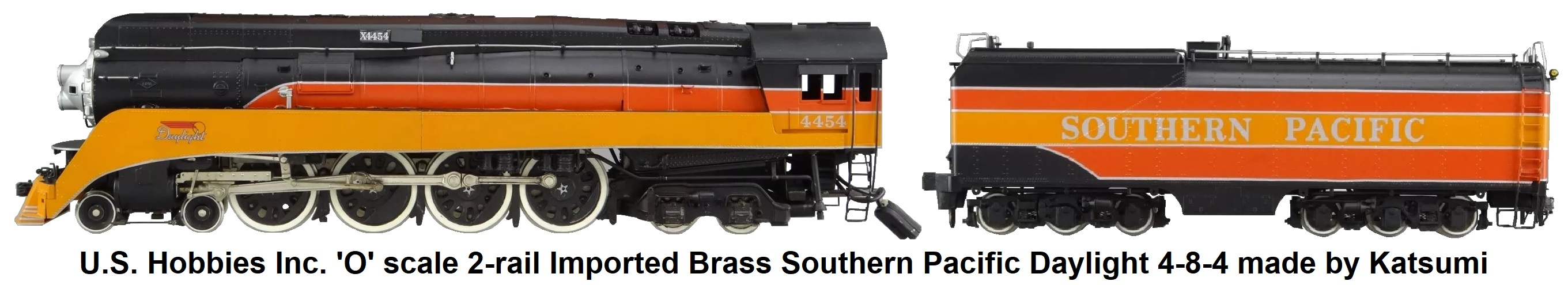 U.S. Hobbies Inc. 'O' scale Brass Import KTM 2-rail Brass Model Train Imported made by Katsumi SP Daylight