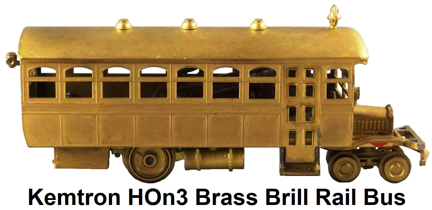 Kemtron HOn3 Brass Brill Rail Bus