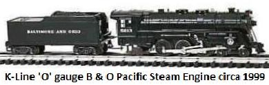 K-line B&O Pacific Steam Engine made 1999 using re-worked original Marx #333 dies