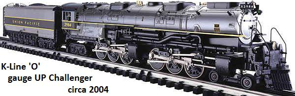 K-Line UP Challenger 'O' gauge scale detailed loco circa 2004