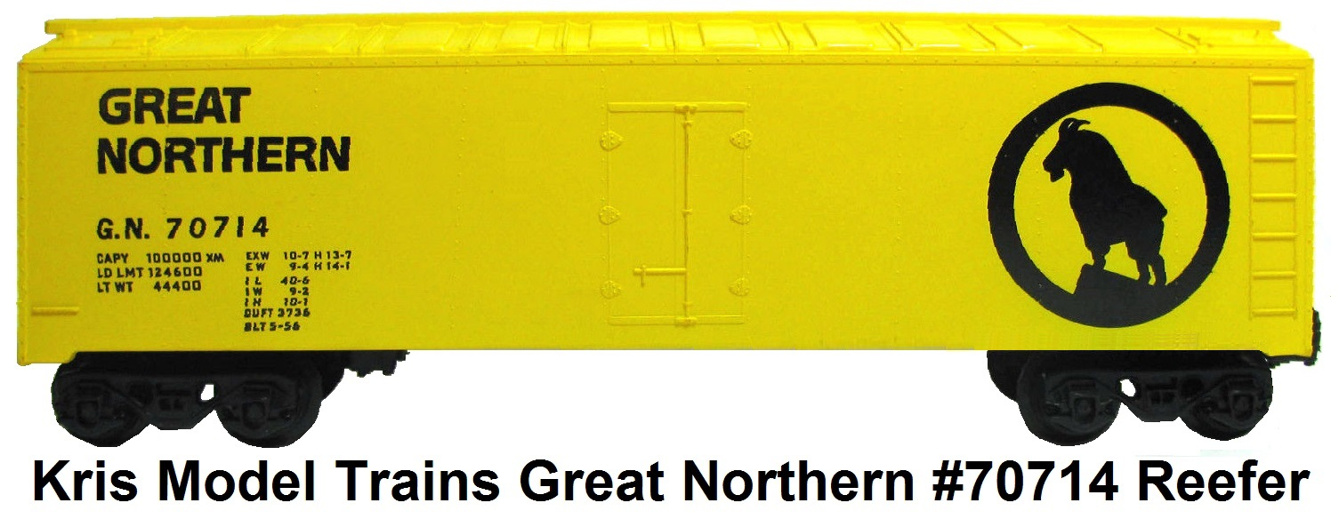 Kris Model Trains #70714 Great Northern Refrigerator car
