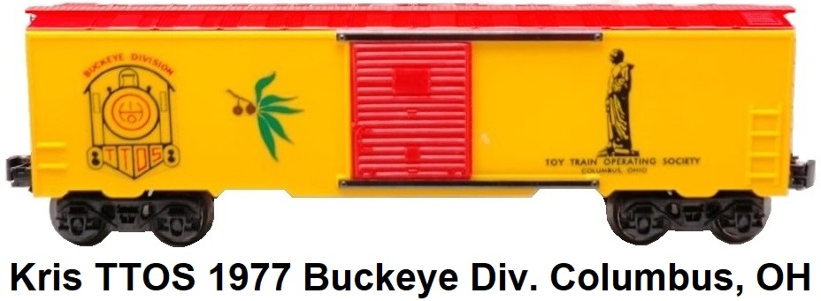 Kris Model Trains Toy Train Operating Society Convention Buckeye Division 1977 Columbus, Ohio box car