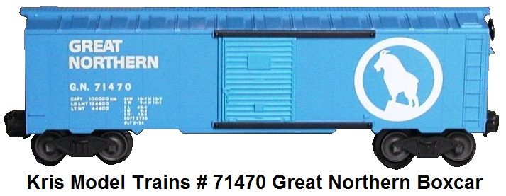 Kris Model Trains #71470 Great Northern blue boxcar