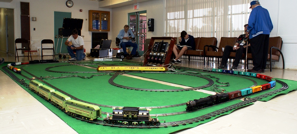 Everyone enjoys running the trains on the 'O' and Standard gauge loops