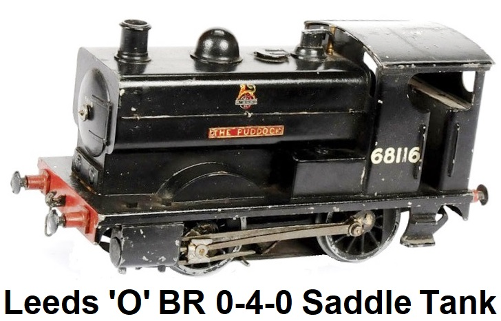 Leeds Model Company 'O' gauge 0-4-0 Saddle Tank Loco BR black #68116, 3-rail electric